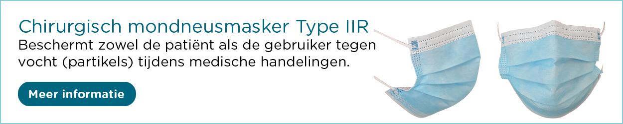 Chirurgisch mondneusmasker Type IIR